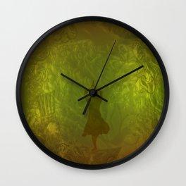 Shadow In The Wood Wall Clock