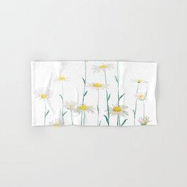 white daisy watercolor horizontal Hand & Bath Towel