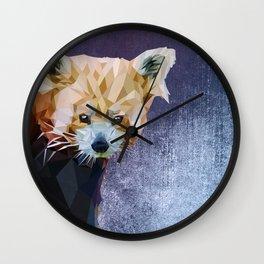 Macaroni - Red Panda Wall Clock