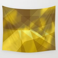rush Wall Tapestries featuring Gold Rush by renajoy