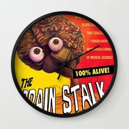 """The Brain Stalk"" Movie Poster Wall Clock"