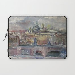 Oil Painting On Canvas City Landscape Artwork Impressionism Cozy Home Decor Bedroom Decoration Laptop Sleeve