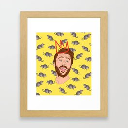 Charlie Day, King of the Rats Framed Art Print