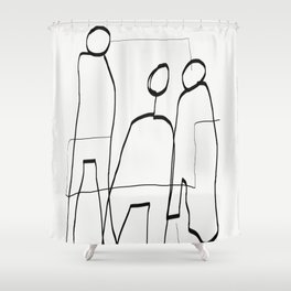 Abstract line art 7 Shower Curtain
