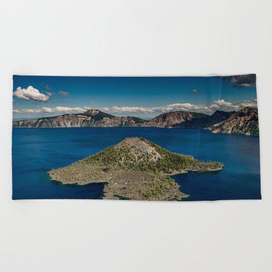 Crater Lake Love Beach Towel