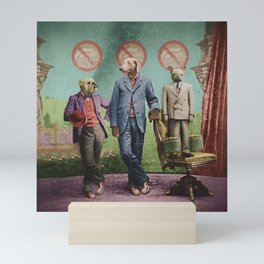 The Three Distinguished Members of the Committee to Handle the Squirrel Problem Mini Art Print