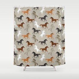 Horse Pattern | Horseback Riding Pony Stallion Shower Curtain
