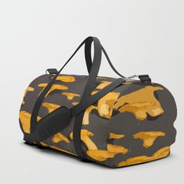 Chantterelles On A Dark Grey Background - Autumn Harvest - #Society6 #buyart Duffle Bag