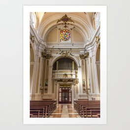 From The Main Altar - St. Justin Cathedral (Chieti, Italy) Art Print