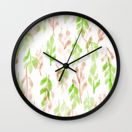 180726 Abstract Leaves Botanical 26 |Botanical Illustrations Wall Clock