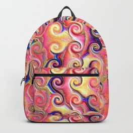 Colorful Seamless Wave Spiral Abstract Pattern Backpack