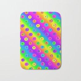 Rainbow Smileys Bath Mat