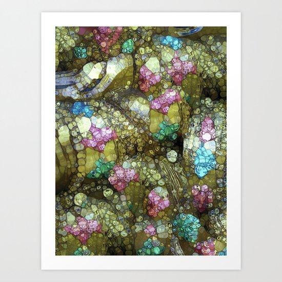 Gems, Glitter & Gold Art Print