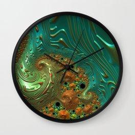 Cool Creamsicle - Fractal Art Wall Clock