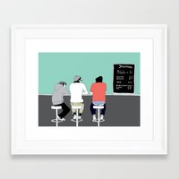 boys Framed Art Prints featuring No 9 by kate alexandra