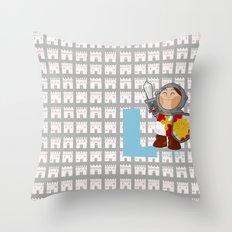 l for lancelot Throw Pillow