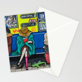 Subway Woman Stationery Cards