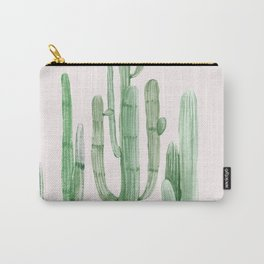 Three Amigos Pink + Green Carry-All Pouch