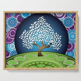 Circle Tree Of Life Serving Tray