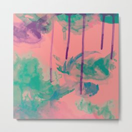 Abstract Blossom WaterCOOLER Metal Print
