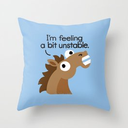 Trigger Warning Throw Pillow