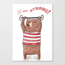 I am strong Canvas Print