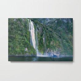 Stirling Falls at Milford Sound Metal Print