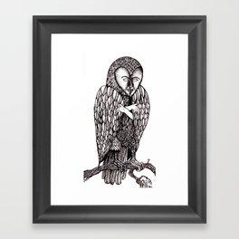 Owl being Framed Art Print