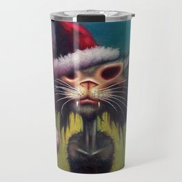 Zombie Cat Christmas Travel Mug