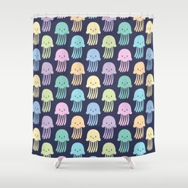 Cute colorful jellyfishes Shower Curtain
