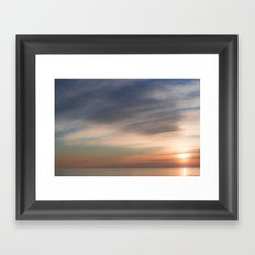sunset in Grado Framed Art Print