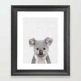 Koala Print, Australian Baby Animal, Nursery Wall Art, Peekaboo Animals, Koala Framed Art Print
