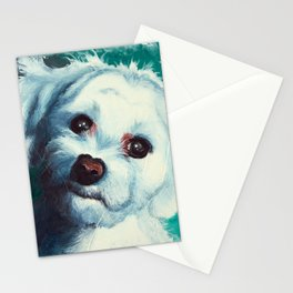 Maltese dog - Pelusa - by LiliFlore Stationery Cards