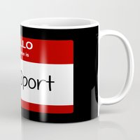 sport Mugs featuring Old Sport by discojellyfish