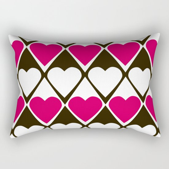 Abstract print with hearts Valentines Day love Rectangular Pillow