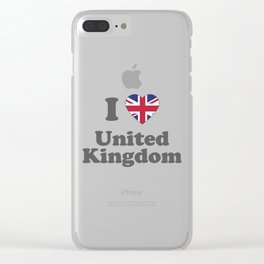 I Love UK Gift I Heart United Kindom British Gift Clear iPhone Case
