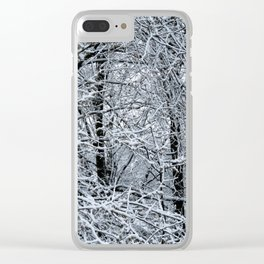 Late Winter Snow Entanglement Clear iPhone Case