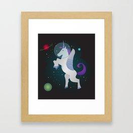 Space Pegacorn Framed Art Print
