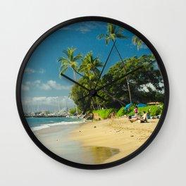 Kamehameha Iki Park Beach Lāhainā Maui Hawaii Wall Clock