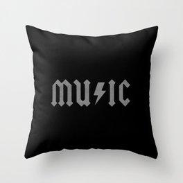 AC DC Music Throw Pillow