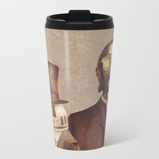Victorian Robots  Metal Travel Mug