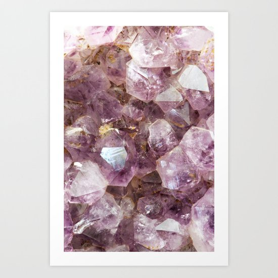 Amethyst and Gold Art Print