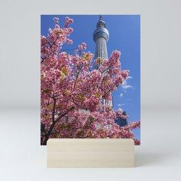 Skytree Sakuras, Tokyo Japan Mini Art Print
