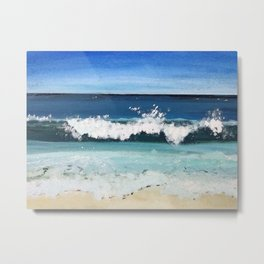 Beach Crash Metal Print