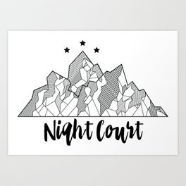 Night Court - Inspired by A Court of Mist and Fury Art Print