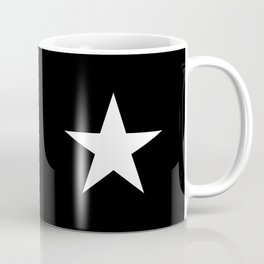 White star on black background Coffee Mug