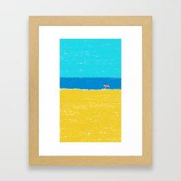 beach-2 Framed Art Print