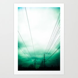 Power Clouds Art Print
