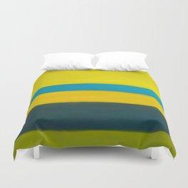 yellow blue Duvet Cover