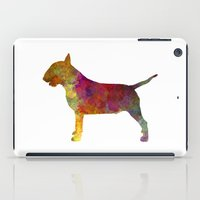 bull terrier iPad Cases featuring Bull Terrier in watercolor by Paulrommer